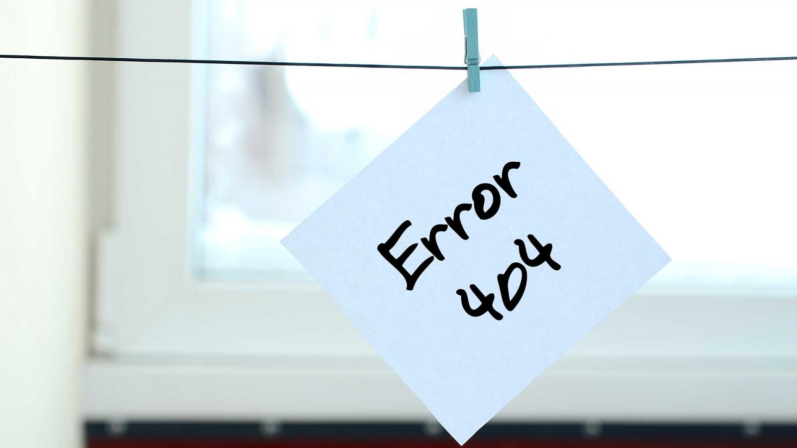 Errore 404 - Redirect