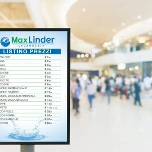 Listino prezzi realizzato per Max Linder